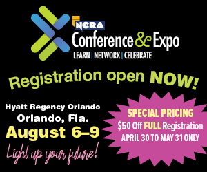 Registration ad for the 2020 NCRA Conference & Expo