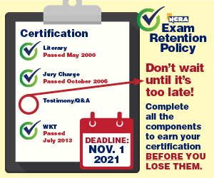 NCRA  Exam Retention policy  reminder