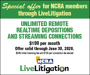 NCRA LiveLitigation member offer