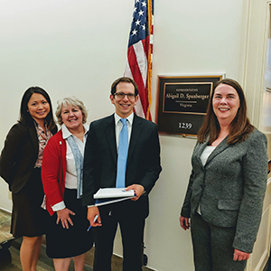 NCRA Members with Rep. Spanberger's Legislative Fellow Ari Levin