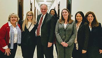 NCRA members with Sen. Tim Kaine (D-VA)